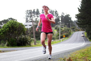Taylor ran the length of New Zealand to raise money for charity.  Photo / Doug Sherring