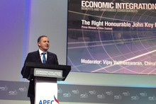 New Zealand Prime Minister John Key addresses the APEC CEO summit. Photo / Supplied 