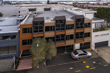 This office building at 24 York St in Parnell comprises two levels of office space and parking on the ground floor. It is being offered for sale by tender.