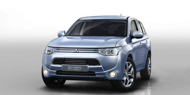 Mitsubishi's Outlander PHEV launches at the Paris motor show this month and will go on sale next year. Photo / Supplied