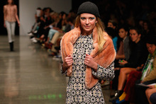 A model showcases a design by Ruby at New Zealand Fashion Week. Photo / Getty Images