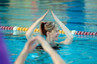 Performing the actions to the song YMCA is all part of an aqua aerobics class. Photo / Michael Craig