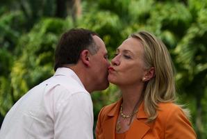 John Key's leadership has revitalised relations between New Zealand and the US, says Hillary Clinton. Photo / Jim Watson