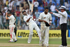 India's batsman Virat Kohli, second left, celebrates their win over New Zealand. Photo / AP