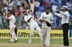 India's batsman Virat Kohli, second left, celebrates their win over New Zealand. Photo / AP
