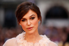 Keira Knightley arrives at the world premiere of Anna Karenina in London.