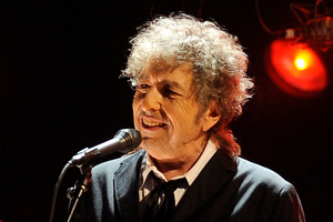 Bob Dylan performing in Los Angeles recently. Photo / AP