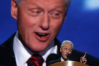 Bill Clinton knew how to play the crowd. Photo / AP