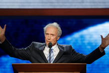 Actor Clint Eastwood addresses the Republican National Convention. Photo / AP