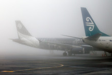 Heavy fog in July grounded many flights in and out of Auckland. Photo / Sarah Ivey