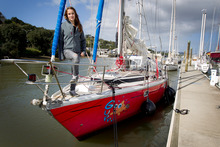 'I really like boats,' says Laura Dekker, at Whangarei's Basin Marina. 'If you want to go somewhere you just take your house with you.' Photo / Sarah Ivey