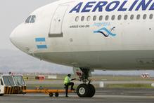 Aerolineas Argentinas passenger plane at Auckland International Airport. Photo / NZ Herald