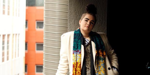 Whitecliffe graduate Jessica Grubisa, 22, works as design-room assistant with the legendary Adrienne Winkelmann. Photo / Janna Dixon