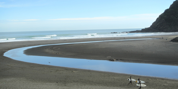 Karekare beach is a peaceful place to regroup and unwind. Photo / The Aucklander