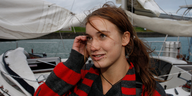 Laura Dekker plans to finish her schooling in NZ - the country of her birth - then sail at the Olympics wearing the silver fern. Photo / Malcolm Pullman