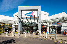View of the entrance to Kelston Shopping Centre.