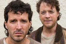 Bret McKenzie and Hamish Blake in Two Little Boys. Photo / Supplied