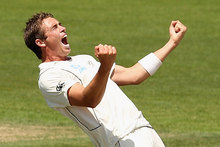 The Black Caps bowlers may have been blunted late on day two of the second test against India, but Tim Southee is positive salvation will arrive in two overs' time. Photo / Getty Images. 
