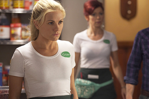 A bra worn by Anna Paquin on True Blood has been donated to charity. Photo / Supplied