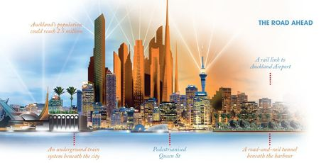 A possible vision of Auckland's future? Illustration / Richard Dale