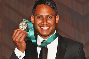 Ben Barba poses with the Dally M Medal. Photo / Getty Images