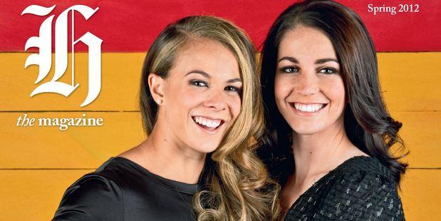 New Zealand Olympic medallists Lisa Carrington and Sarah Walker. Photo / Greg Bowker