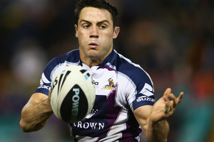 Cooper Cronk and the Storm face the Rabbitohs in week one for the finals. Photo / Getty Images