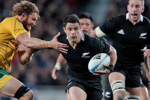 Dan Carter in action against the Wallabies at Eden Park. Photo / Richard Robinson