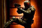 Karl Urban in action as Judge Dredd. Photo / dreddthemovie.com