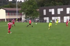 Dominique Niederhauser chipped the opposition keeper from more than 70 metres out. Photo / YouTube