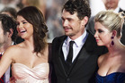 James Franco, pictured at the premiere of Spring Breakers in Venice, has been accused of defaming a former teacher. Photo / AP