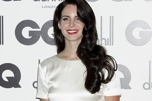 GQ magazine's Woman of the Year Lana Del Rey arrives at the celebratory party in central London. Photo / AP
