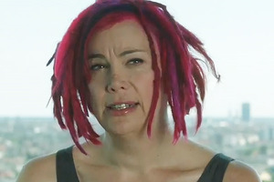Lana Wachowski, as she appeared in the introduction for the Cloud Atlas trailer.  Photo / YouTube