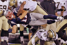 The Patriots and Saints will both be looking to make repeat appearances in the NFL playoffs. Photo / AP