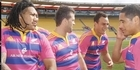 Watch: All Blacks in pink: Carter, Dagg have design off