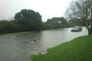 Heavy flooding left several Remuera, Auckland residents trapped in their homes today. Photo / Robyn Waterfall