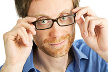 Stephen Merchant is bringing his live stand-up show to New Zealand. Photo / Supplied