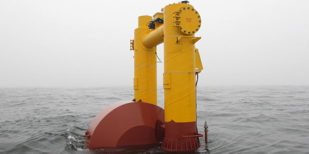 The Wave Energy Technology-NZ converter is being tested off US north-west coastline over the next two months. Photo / Supplied