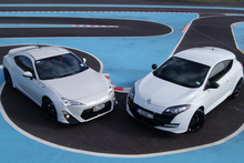 Toyota TRD 86 and RenaultSport RS265. Photo / David Linklater