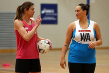 Irene van Dyk (left) is expected to start the big games at goal shoot this year ahead of Cathrine Latu. Photo / Getty Images