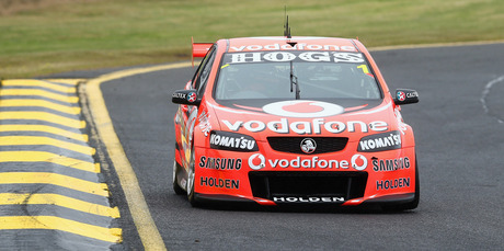 Jamie Whincup drives the #1 Team Vodafone Holden during practice for the Sandown 500. Photo / Getty Images