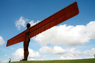 Antony Gormley's Angel of the North looms large over Gateshead, Tyne and Wear in the north of England. Photo / Thinkstock