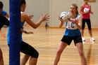 Camilla Lees passes during a Silver Ferns netball training session at Unitec. Photo / Getty Images.