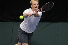 Kiwi No 2 Dan King-Turner lost in five sets to Indian No 1 Yuki Bhambri. Photo / Mark Mckeown