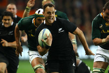  Israel Dagg of New Zealand makes a break during the Rugby Championship match between the New Zealand All Blacks and South Africa at Forsyth Barr Stadium. Photo / Getty Images.