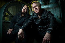 Dino Cazares (L) and Burton C. Bell are the driving force behind the latest Fear Factory album, The Industrialist. Photo / Supplied
