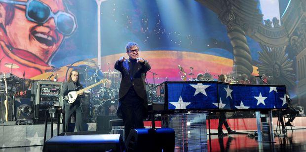 Rocket Man Elton John brings his Million-Dollar Piano to the stage. Photo / Supplied