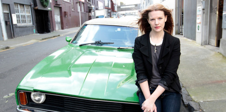 Charlotte Rust finds driving her '78 Falcon a meditative experience. Photo / Michael Craig
