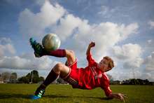Ten-year-old Samuel Turner-O'Keeffe dreams of playing for the All Whites one day. Photo / Greg Bowker