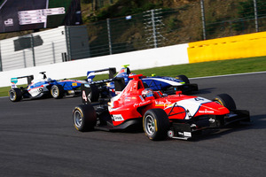 Mitch Evans who yesterday wrapped up the GP3 title at Monza in Italy. Photo / GP3 MEDIA
